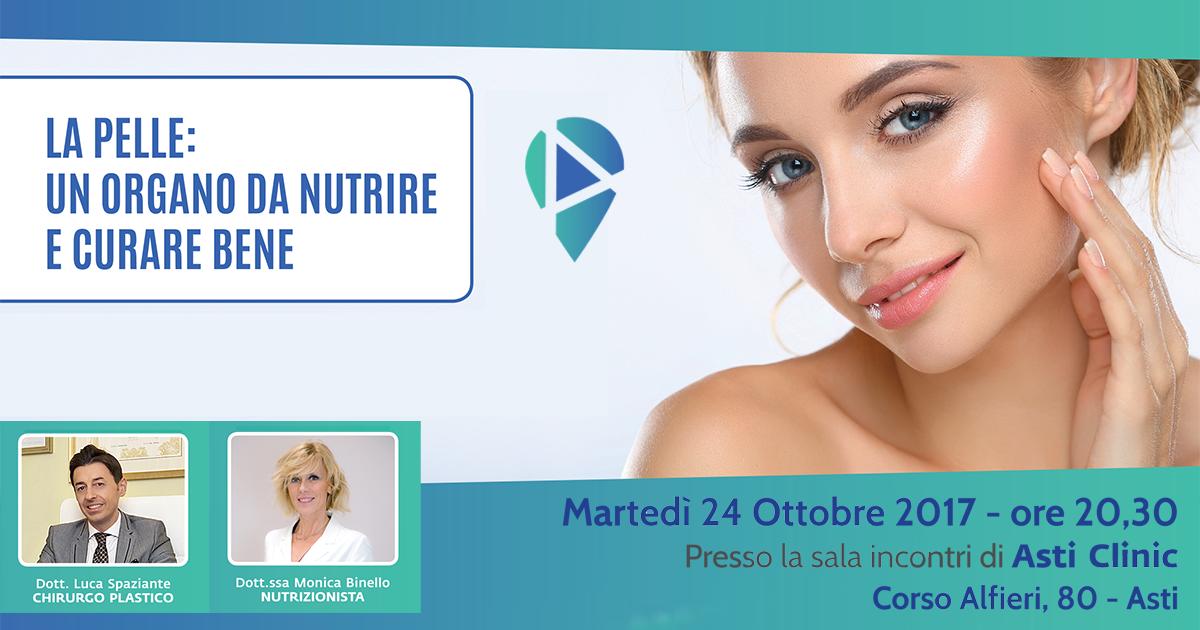 La pelle: un organo da nutrire e curare bene - 24 Ottobre..