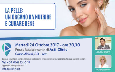 La pelle: un organo da nutrire e curare bene – 24 Ottobre 2017